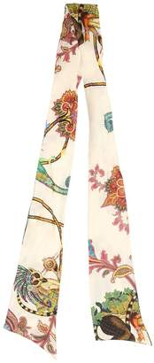Etro Floral Printed Silk Twill Scarf