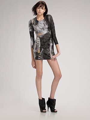 Helmut Lang Powder-Print Dress