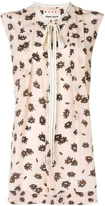 Free Shipping 100% Guaranteed Marni x Frank Navin floral sleeveless blouse Best Wholesale Sale Online Finishline Official Nice A8Lqu