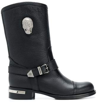 Philipp Plein Skull Light high ankle boots