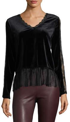 Allison Collection Velvet Lace Blouse