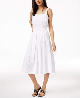 Michael Kors MICHAEL Cotton Tiered Dress, Created for Macy's