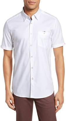 Ted Baker Wallo Trim Fit Short Sleeve Sport Shirt