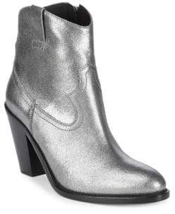 Saint Laurent Metallic Leather Booties