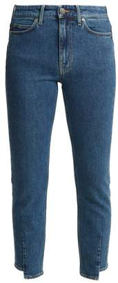 MiH Jeans Niki High Rise Slim Leg Cropped Jeans - Womens - Denim