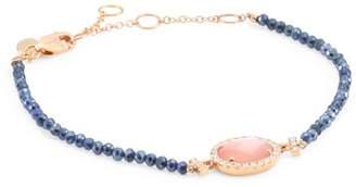 Meira T Diamond, Rose Quartz, Mother Of Pearl Doublet, Blue Silverite & 14K Rose Gold Bracelet