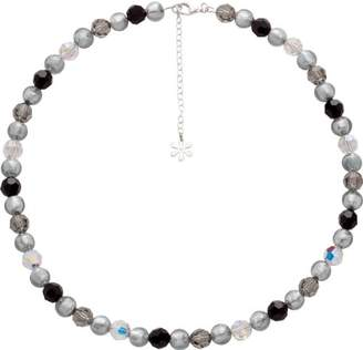 Valentina Murano Glass Silver Mix Bead Necklace of Length 46 cm