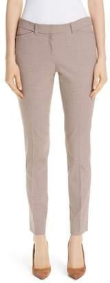 Lafayette 148 New York Manhattan Houndstooth Wool Blend Skinny Pants