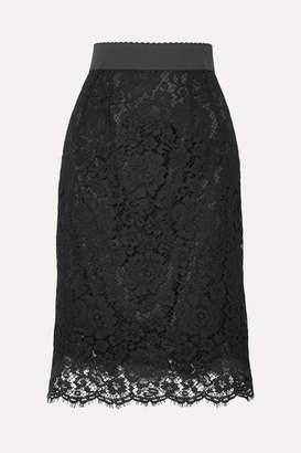Dolce & Gabbana Guipure Lace Skirt - Black