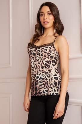 Next Lipsy Leopard Lace Cami Top - 6 2b2831ddb