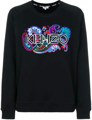 Kenzo branded patch sweatshirt