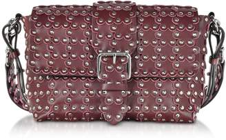 RED Valentino Flower Puzzle Wine Leather Shoulder Bag