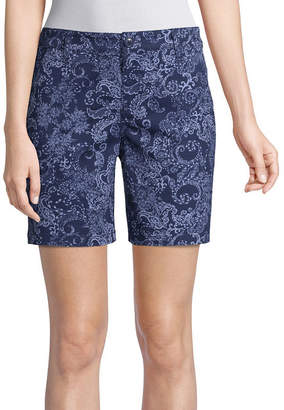 ST. JOHN'S BAY Womens Chino Short
