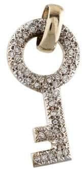 14K Diamond Key Pendant