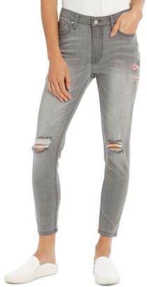 Grab NEW Jean Printed with Oriental Motif Grey