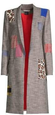 Alice + Olivia Kylie Patchwork Coat