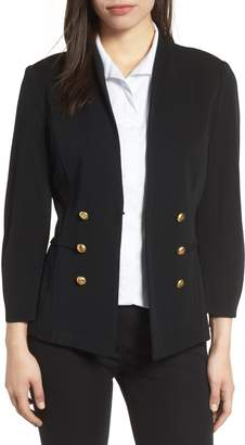 Ming Wang Button Detail Knit Jacket