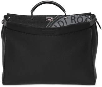 Fendi Medium Peekaboo Tumbled Leather Bag