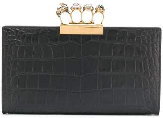 Alexander McQueen square shaped clutch
