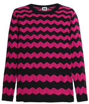 M Missoni Metallic Crochet-Knit Cotton-Blend Sweater