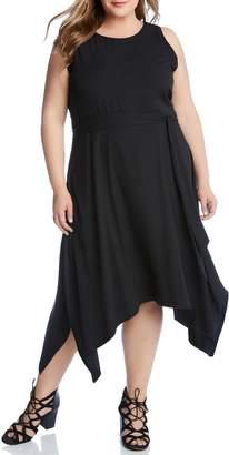 Karen Kane Sleeveless Handkerchief Hem Dress
