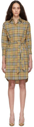 Burberry Beige Vintage Check Shirt Dress