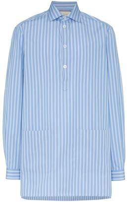 Gucci oversized stripe print cotton shirt