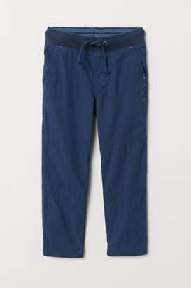 H&M Jersey-lined Pants - Blue