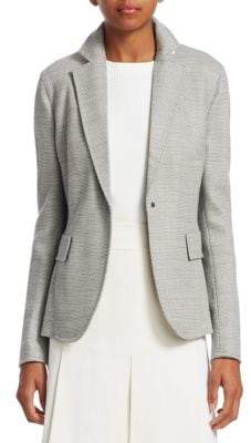 Akris Punto Wool Stretch Birdeye Blazer