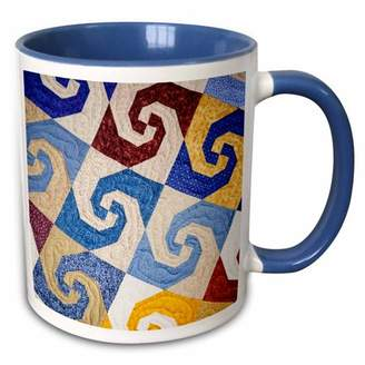 Walter 3drose 3dRose West Virginia, Beckley. Tamarac, quilt textile - US49 WBI0014 Bibikow - Two Tone Blue Mug, 11-ounce
