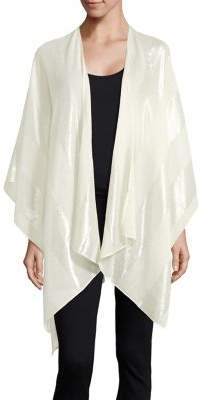 Lord & Taylor Striped Asymmetrical Cape