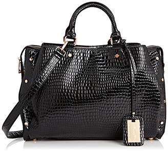 At Co Uk Syswans Womens Ashton Croc Patent Leather Work Tote Black