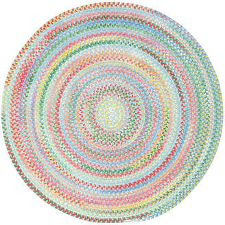 Capel Inc. Capel Baby's Breath Reversible Braided Round Rug