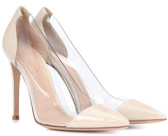 Gianvito Rossi Plexi leather pumps