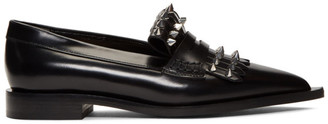 Alexander McQueen Black Leather Studded Loafers