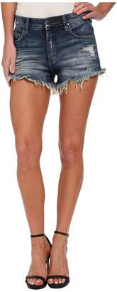 Blank NYC Denim Distress Wedge Short in Fit Of Rage Women's Shorts