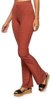 Miss Selfridge Ribbed High-Rised Kickflare Trousers