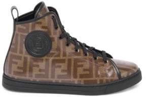 Fendi Logo High-Top Sneakers