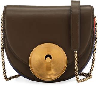 Marni Metal Disk Leather Saddle Bag