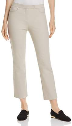 Theory Cotton-Blend Cropped Straight Pants