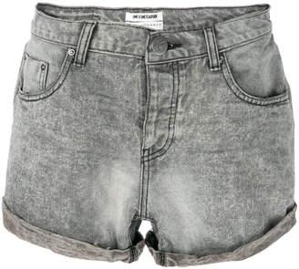 One Teaspoon rolled cuff denim shorts