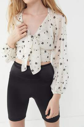 The East Order Sabina Floral Cropped Blouse