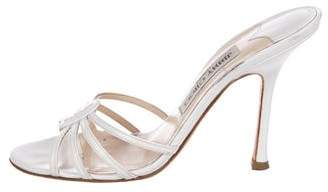 Jimmy Choo Leather Slide Sandals
