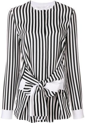 Victoria Victoria Beckham striped tie front shirt