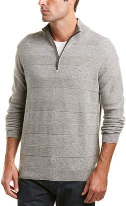 Forte Cashmere Textured Quarter-Zip Sweater