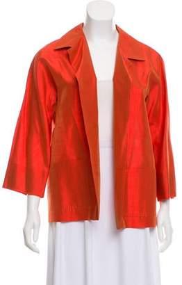55d53051317 Max Mara Silk Open Front Jacket