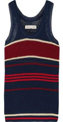 Etoile Isabel Marant Dully Striped Open-Knit Tank