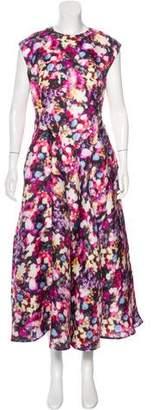 Nina Ricci Imprime Fleures Rose Print Evening Dress w/ Tags
