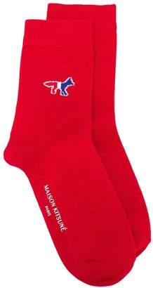 MAISON KITSUNÉ stitched logo socks