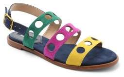 Kensie Marigold Cut-Out Suede Sandals